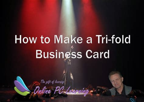 Tri Fold Business Card Template how to make tri fold business cards office tutorials