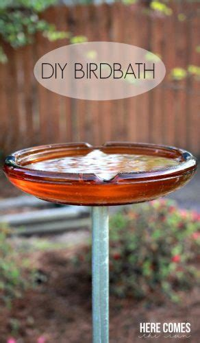 diy birdbath here comes the sun