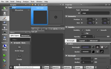qml page layout qt5 tutorial creating qtquick2 qml application animation a