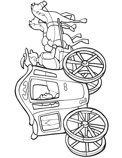 Carriage Princess Coloring Pages