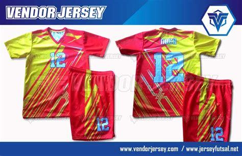 Press Nama Nomor Punggung Printing Setelan Bola Futsal pembuatan setelan jersey futsal printing vendor jersey futsal