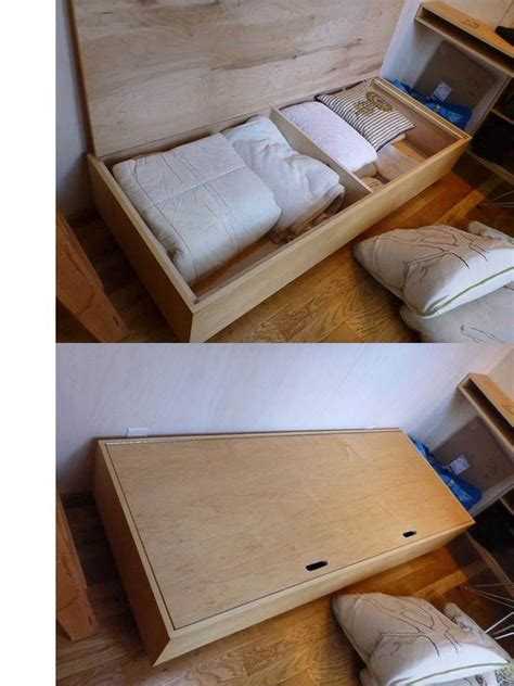 small house storage ideas vina s tiny house storage below the sofa bed has a hinged