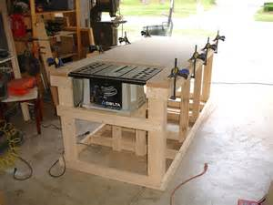 workshop work bench backyard workshop ultimate workbench building