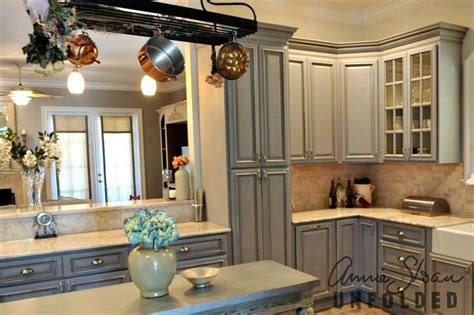 chalk paint grey kitchen cabinets sloan chalk paint on kitchen cabinets in grey