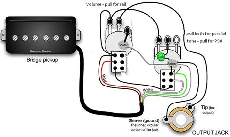 hermetico guitar wiring diagram lp 1 prail 4 sounds