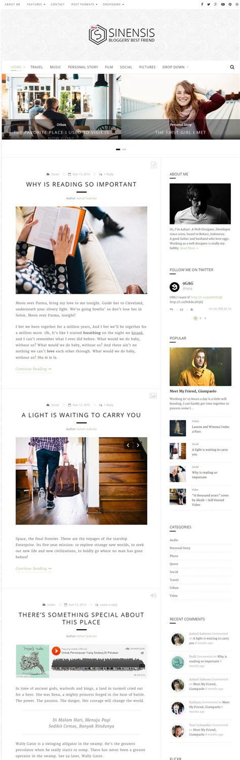 wordpress themes blog clean 30 best modern and clean blog wordpress themes 2016