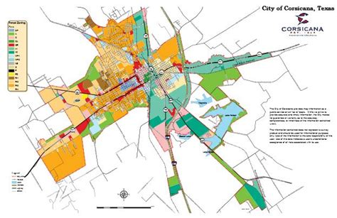 texas zoning map corsicana tx official website zoning permitting