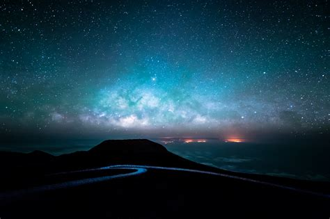 tapete sternenhimmel starry sky road at 4k ultra hd fond d 233 cran and
