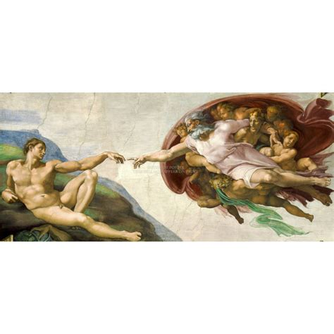 God Sistine Chapel Ceiling by Michelangelo Creation Of Adam Size Panorama By Worldofposter