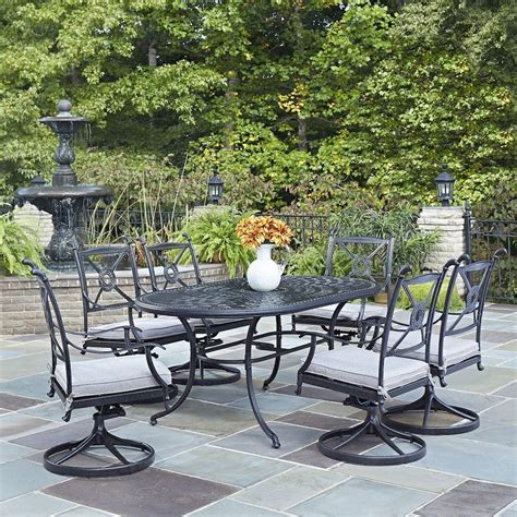 Home Styles Athens Charcoal 7 Piece All Weather Cast 7 Patio Dining Set