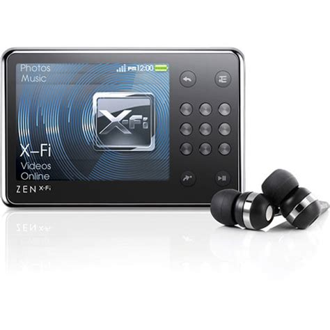 creative labs zen x fi 16gb portable media player 70pf2391001f1