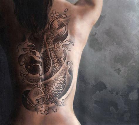 Tattoo Koi Fish Back | 25 lovely koi fish tattoo design ideas wpjuices
