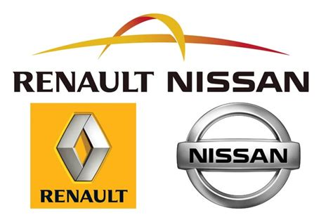 renault nissan logo renault nissan resumes almost all production