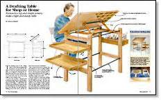 Plans For Building A Drafting Table Drafting Table Plans Diywoodtableplans