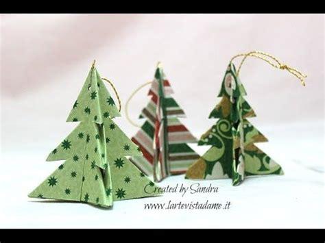 tutorial origami albero di natale origami christmas tree alberelli origami albero di natale