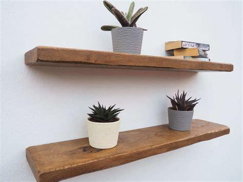 floating shelves rustic oak floating shelves order free brackets