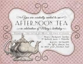 printable tea birthday invitation 4 25 x by cyanandsepia