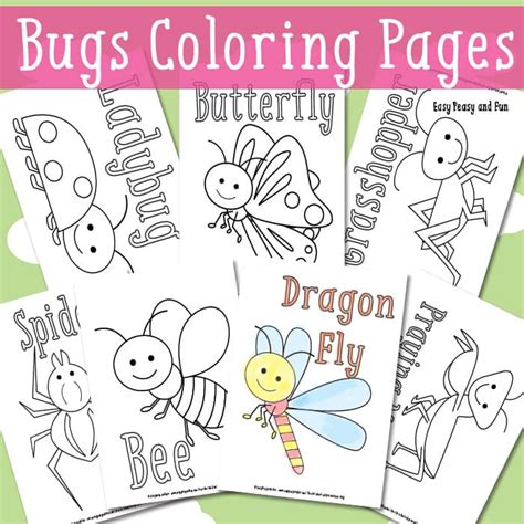 easy peasy coloring pages little bugs coloring pages for kids easy peasy and fun