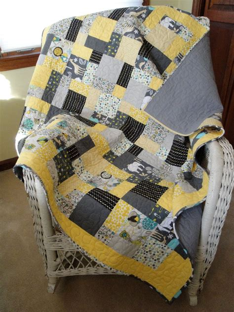 yellow quilt pattern modern gray and yellow baby quilt quilt modern yellow