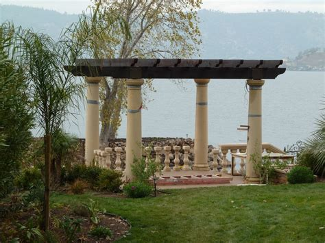 pergola with pre cast columns and balustrades yelp