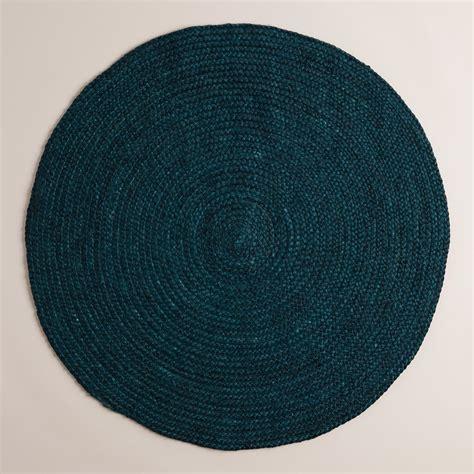 teal braided jute area rug world market