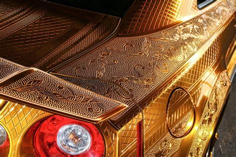 Diesel Godzila Gold this gold plated finely engraved nissan gt r by kuhl racing will leave your dazzled