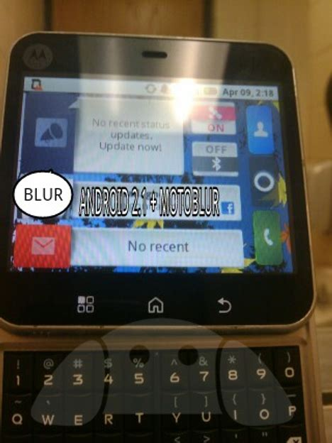 square android unknown square motorola phone appears with android and motoblur