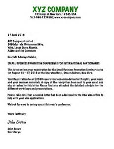 Business Letter Example For Invitation writing an invitation letter for business visa usa b1