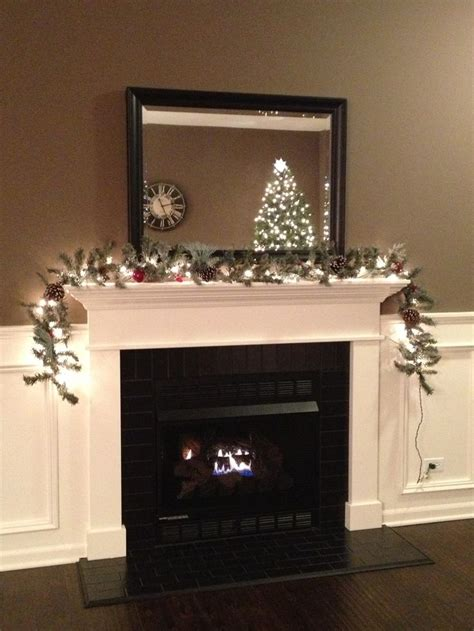 Black And White Fireplace Tiles by Black Subway Tile Fireplace With White Mantel And Trim
