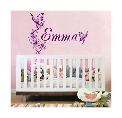 Personalized Nursery Wall Decals Personalized Childs Name Vinyl Wall Decal Decor Custom Nursery 00018 Wikkidwurx