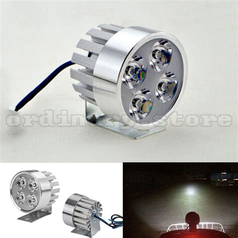 Led Motor 4 Sisi aliexpress buy silver electric motor bike motorcycle 12w 4 led headlight work light