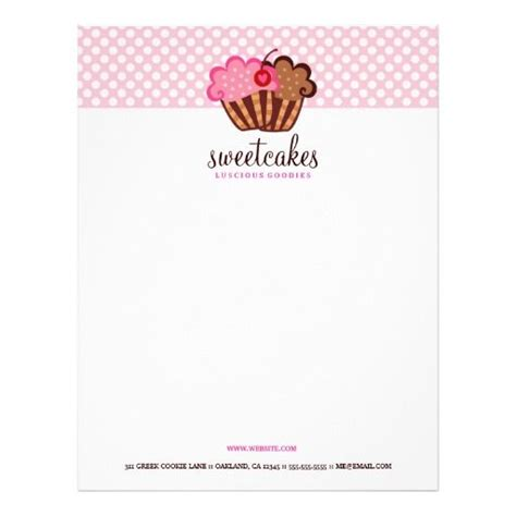Business Letter For Cake 17 best images about bakery letterhead on
