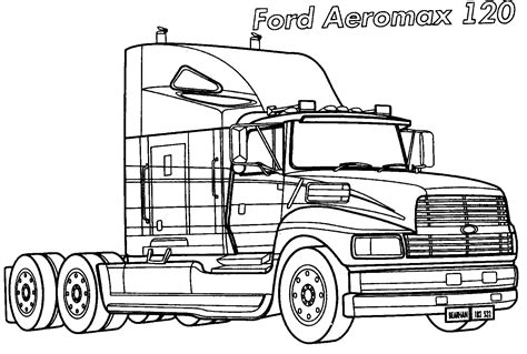 coloring page ford truck coloring page ford aeromaks 120