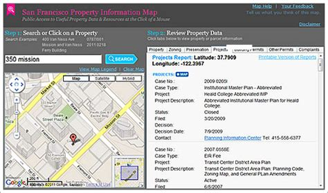 San Francisco Property Records Socketsite San Francisco Property Information Map Preview For The Plugged In