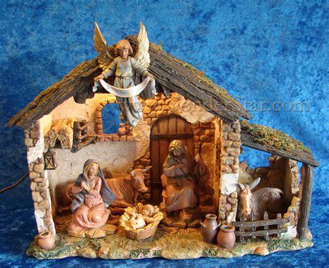 fontanini 5 quot nativity scene w lighted stable fontanini