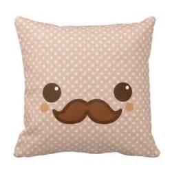 Cushion Custom Made Cute Coffee Mustache Throw Pillows Zazzle