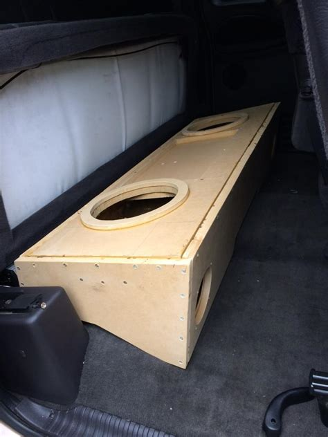 dodge ram subwoofer box club cab custom subwoofer box build w pics dodgeforum