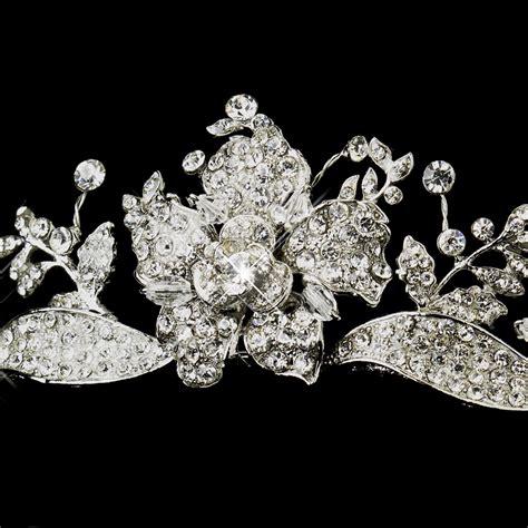 rose tiara radiant rhinestone rose tiara headpiece elegant bridal