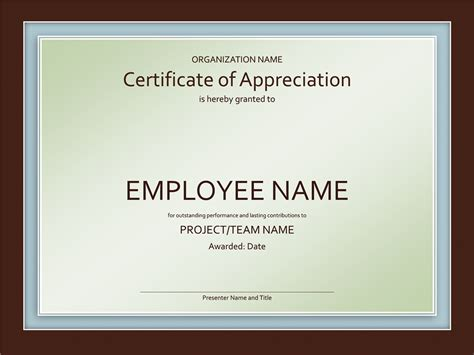 certificate of appreciation templates certificate of appreciation free certificate templates