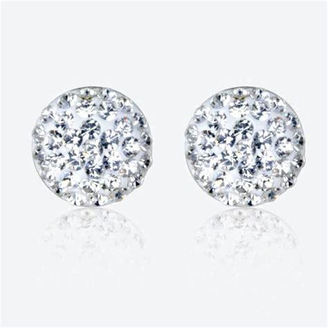 sterling silver dome stud earrings