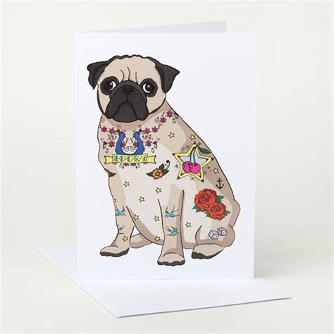 pug card pug birthday card by pugyeah notonthehighstreet