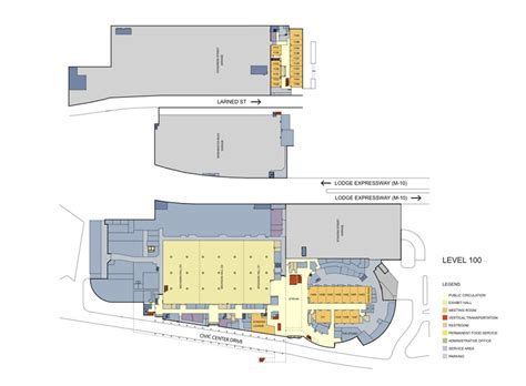 Cobo Hall Floor Plan | event spaces cobo center detroit michigan