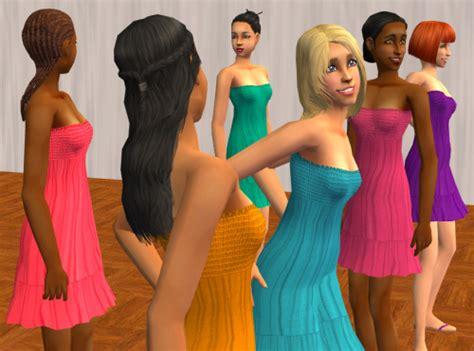 5 Sassy Summer Strapless Staples by Mod The Sims Sassy Strapless Smocked Summer Dresses