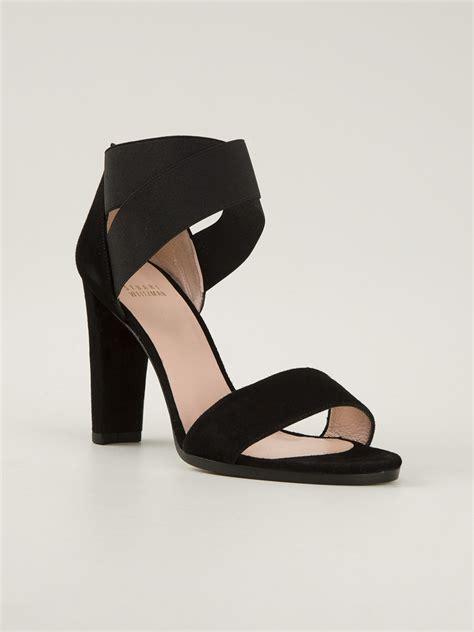 thick heel sandals stuart weitzman chunky heel sandals in black lyst