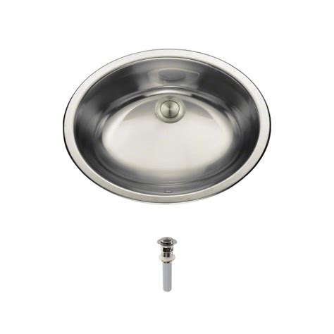 bathroom sink pop up drain mr direct dual mount bathroom sink in stainless steel with