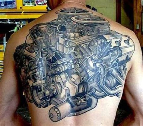 engine tattoos 45 mechanical engine tattoos