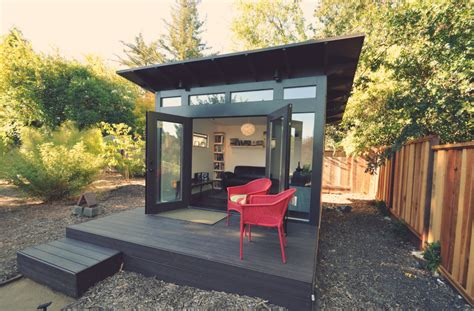 building a backyard office prefab modern sheds and backyard studios studio shed