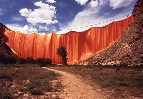 christo and jeanne claude valley curtain christo 1935 jeanne claude 1935 2009