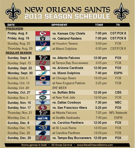 printable saints schedule 2015 search results for printable nfl schedule pdf calendar