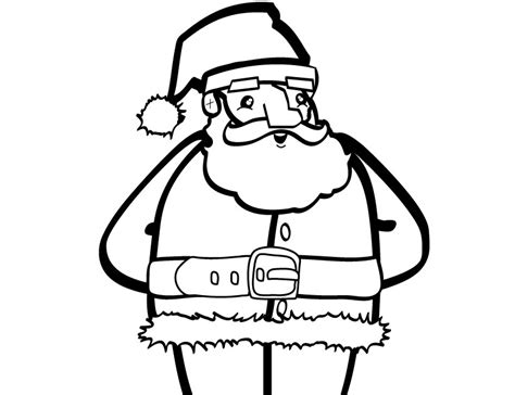 large santa coloring page big santa claus coloring pages gt gt disney coloring pages